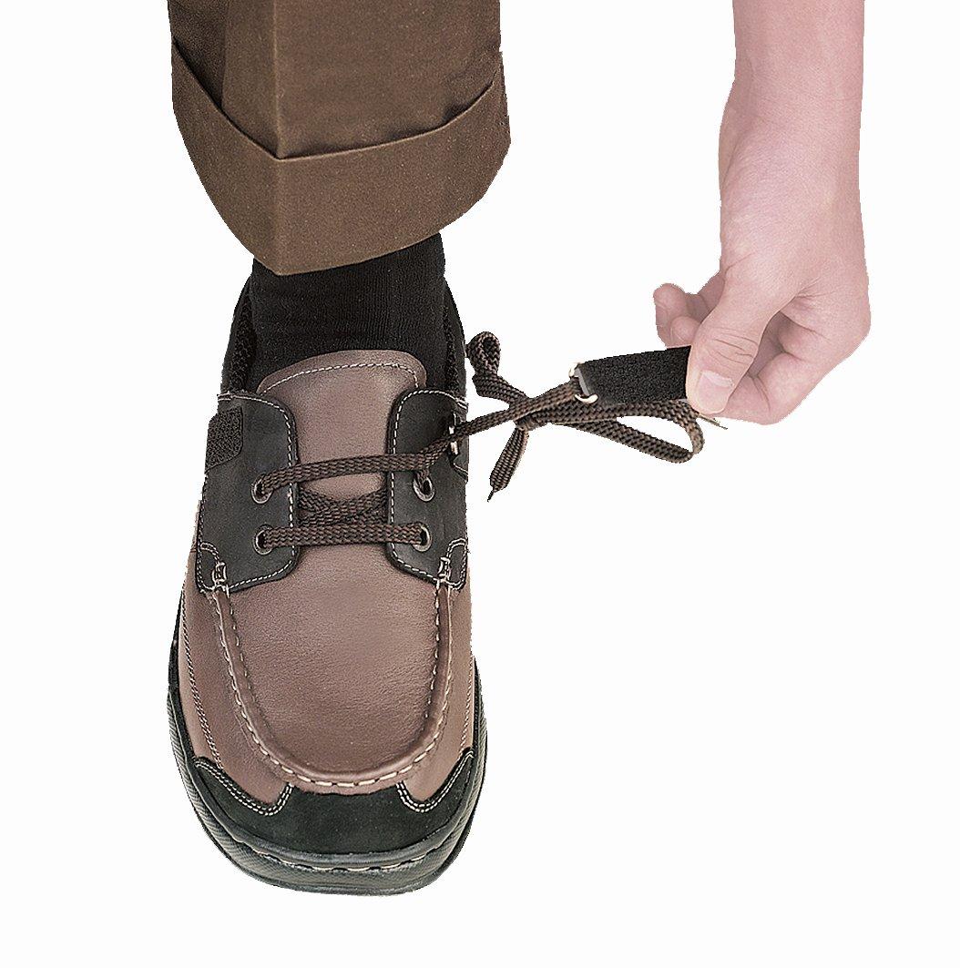 Orthofeet Baton Rouge Comfort Arthritis Orthopedic Mens Diabetic Boat Shoes Brown/Black Leather 11 XW US by Orthofeet (Image #2)