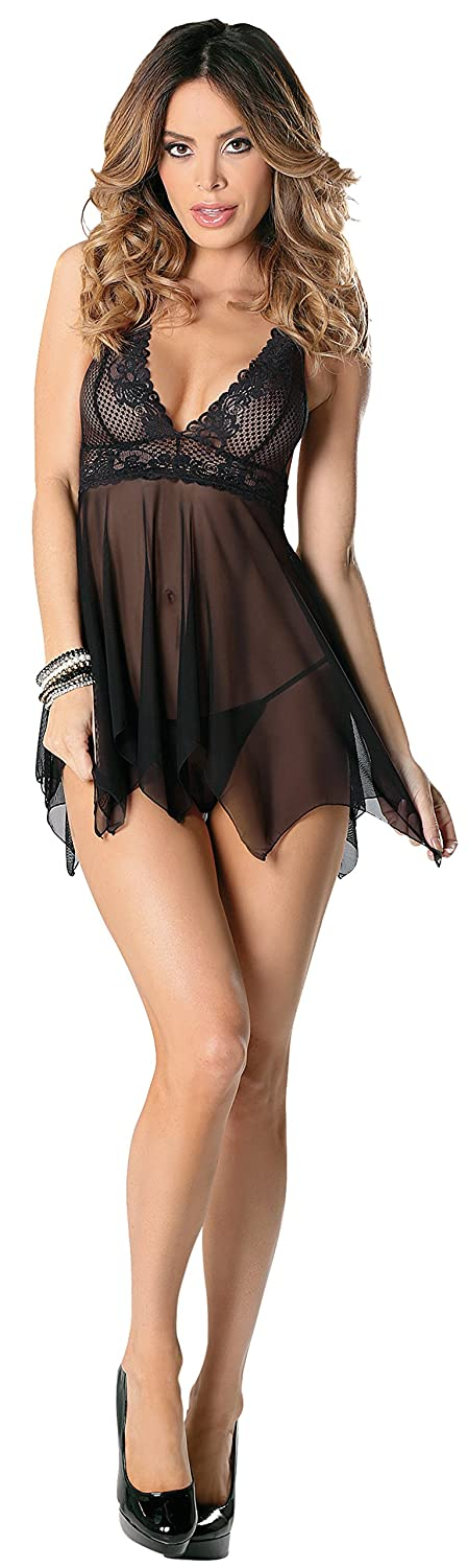 Escante womens Lace Babydoll With Pointed Hem Escante Inc 30551