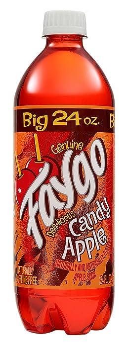 Faygo Candy Apple Soda, 24 oz (24 Bottles)