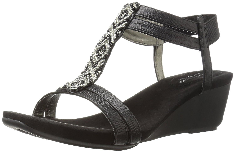 Bandolino Women's Hippo Wedge Sandal B01MD14B7Y 11 B(M) US|Black