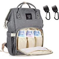 Dulcii Multi-Function Waterproof Diaper Bag Travel Backpack Nappy Bags for Baby Care, Large Capacity, Stylish and Durable,Grey
