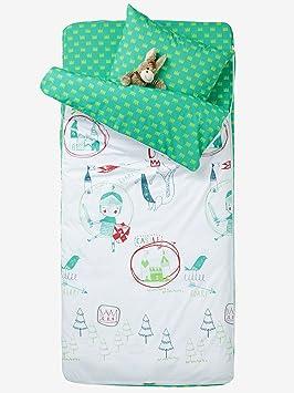 VERTBAUDET Listo para dormir con nórdico Caballero Blanco/Verde 89: Amazon.es: Hogar