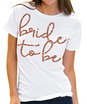 7ec8e9696 Amazon.com: Bride & Bridal Party Rose Gold T-Shirts - Bride Tribe Wedding  Tees for Bridesmaid, Maid of Honor - Bachelorette Party Shirt: Clothing