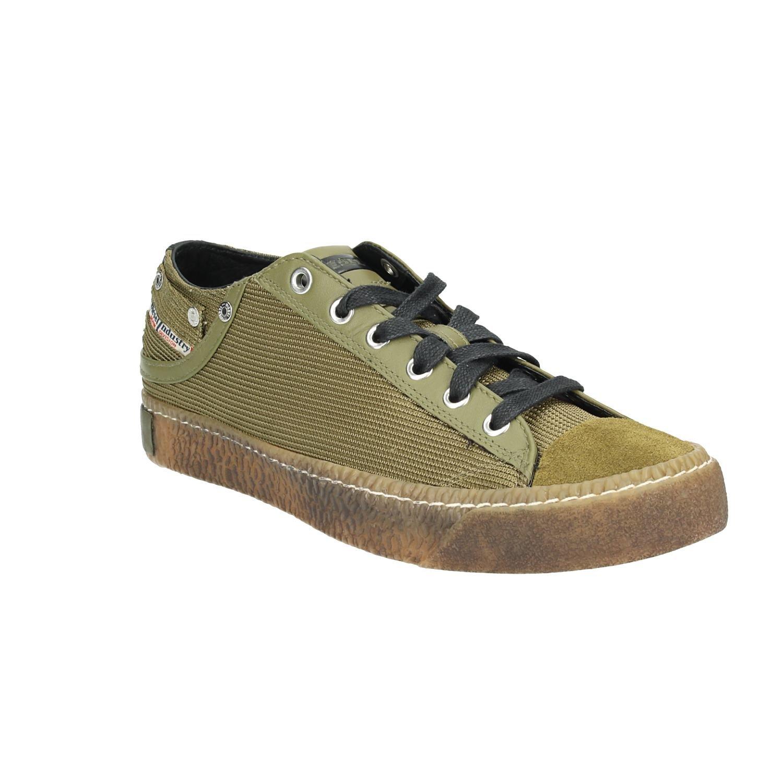 Diesel Hombres Olive Exposure Low I Zapatillas Verde