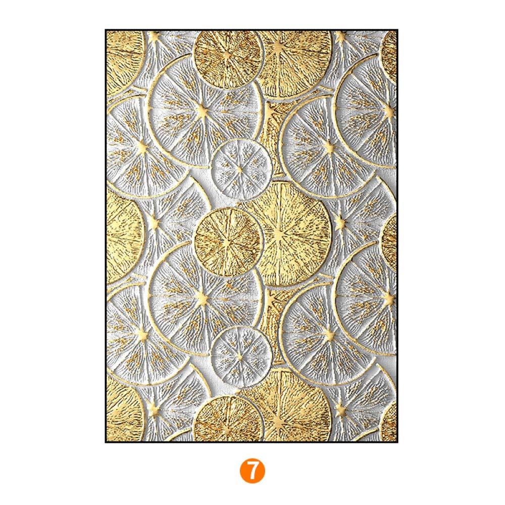 PLLP Abstract gold foil series modern decorative painting, Nordic office living room painting, bedroom triptych, to map custom,F,6080cm by PLLP