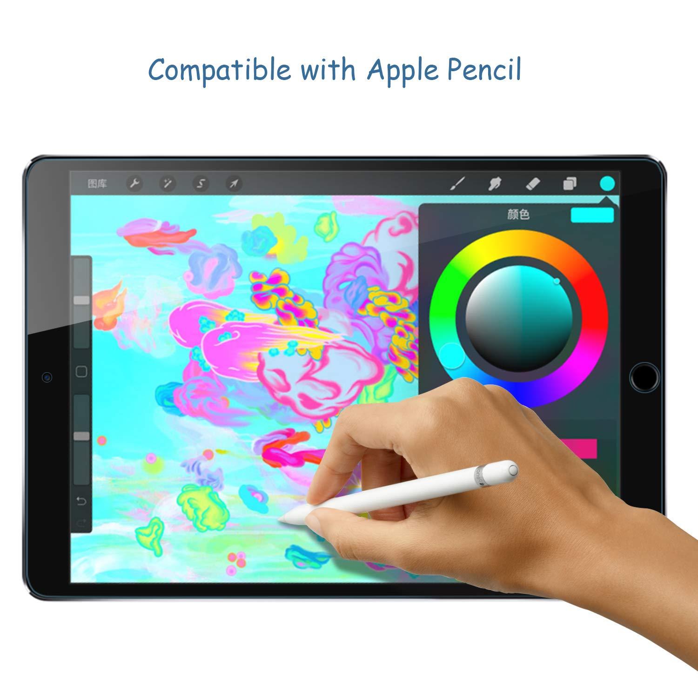 iPad 9.7 2017 Displayschutz, HZSSEC Screen Protector 9H Härte Klar Anti-Kratz Tempered Glas Displayschutzfolie Schutzglas Folie für iPad 2017/ iPad Air 2/ iPad Air/ iPad Pro 9.7