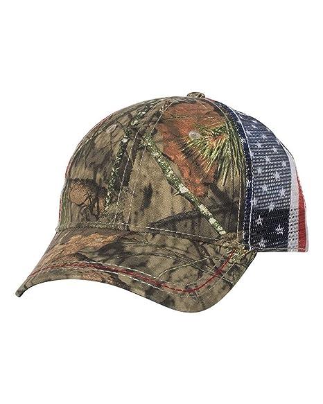 4a2e52983806d Amazon.com  American Flag Meshback Camo Cap  Clothing