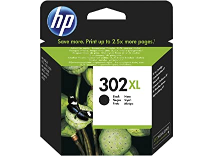 HP 302XL High Yield Black Original Ink Cartridge 8.5ml 480páginas Negro cartucho de tinta - Cartucho de tinta para impresoras (Negro, Deskjet 1110, ...