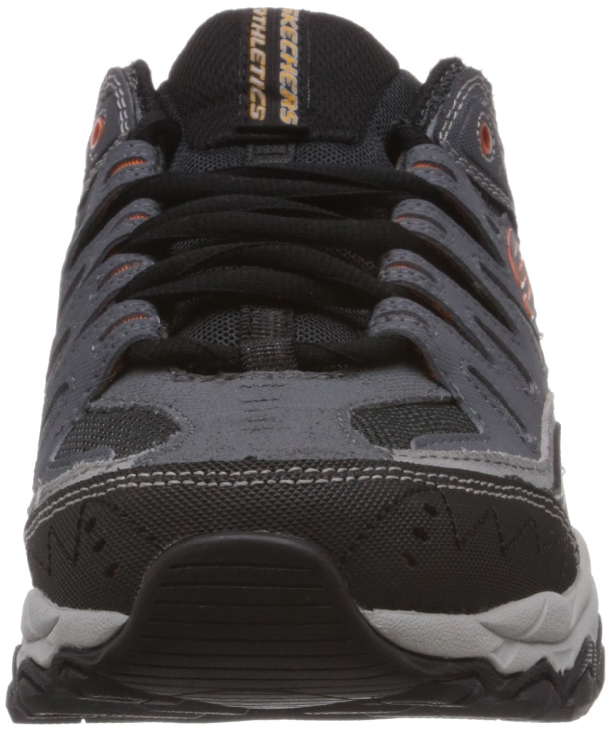Skechers Sport Men's Afterburn Memory Foam Lace-Up Sneaker, Charcoal, 7 M US by Skechers (Image #4)