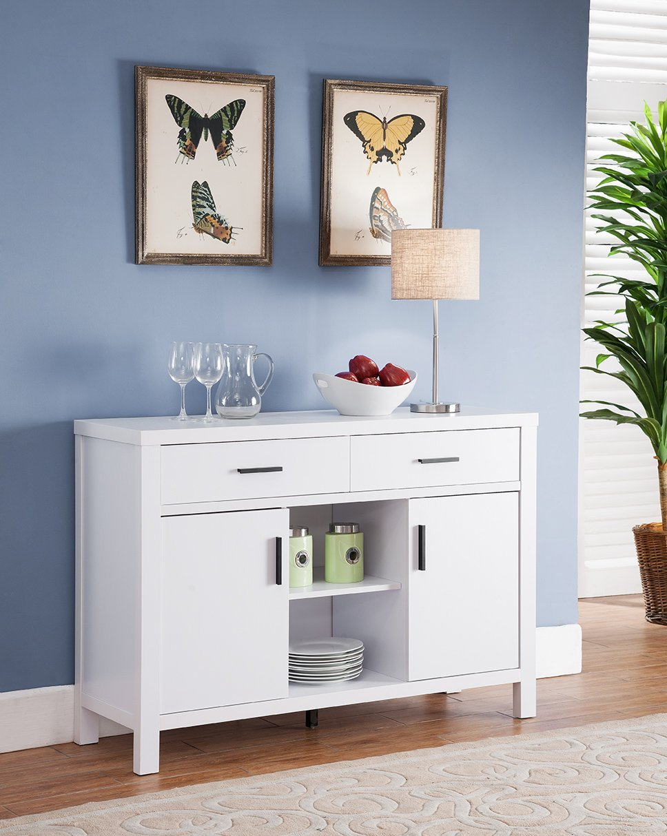 Amazon com smart home modern buffet fine dining serving table stand furniture white buffets sideboards
