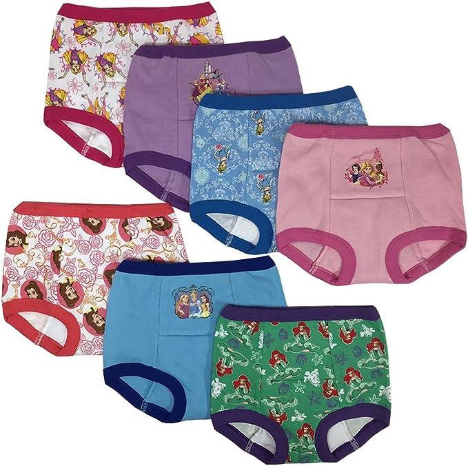 Handcraft Disney Princess Girls Potty Training Pants Panties Underwear Toddler 7-Pack Size 2T 3T 4T