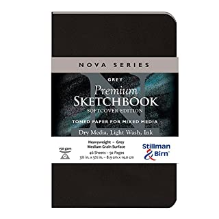 Stillman & Birn Nova Softcover Sketchbook, Grey, 3.5x5.5 Inches