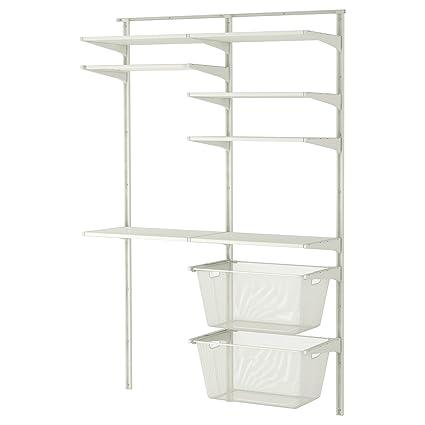 IKEA Algot - pared vertical / estantes / tendedero Blanca ...