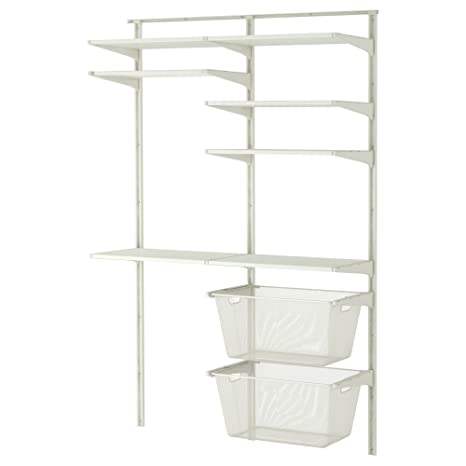 IKEA Algot - pared vertical / estantes / tendedero Blanca ...