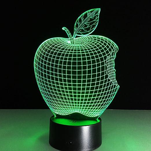 Alimenté par USB 3D Apple Forme ILLusion Nuit Lumière 7