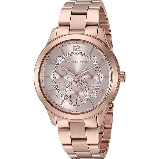 Michael Kors Reloj Analógico para Mujer de Cuarzo con Correa en Acero Inoxidable MK6589