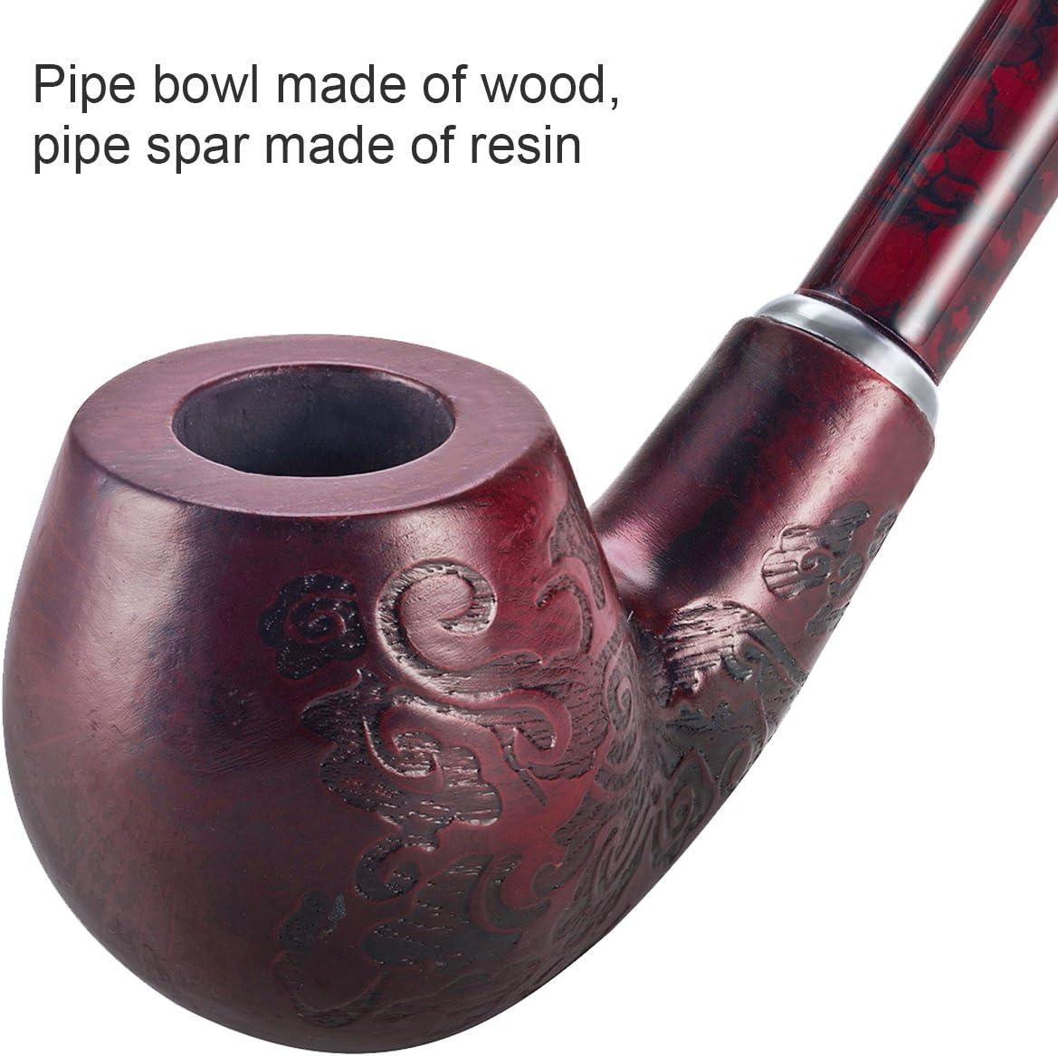 Exquisite lange braune Griff Holzpfeife Tabak Zigarette Holzpfeife CF5012