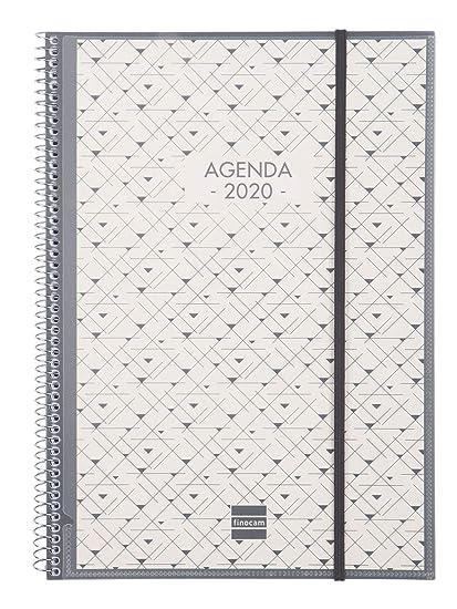 Finocam - Agenda 2020 semana vista vertical Espiral Personalizable catalán