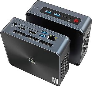 Beelink SEi8 Mini PC Windows10 Pro, 8th Generation Intel i5-8259U Processor,8G DDR4/256GB SSD,Gigabit Ethernet,4K HD,Dual HDMI,WiFi 6,BT5.0,Fan,Support Auto Power On