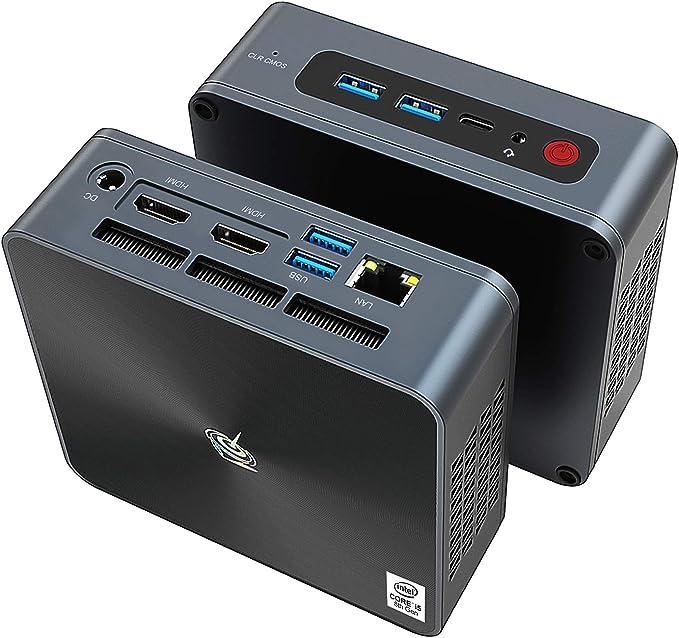 Beelink SEi8 Mini PC Windows10 Pro, 8th Generation Intel i5-8259U Processor,16GB DDR4/512GB SSD,Gigabit Ethernet,4K HD,Dual HDMI,WiFi 6,BT5.0,Fan,Support Auto Power On   Amazon