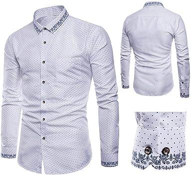 FAMILIZO Camisas Hombre Manga Larga Slim Fit Camisas Hombre Lino Camisas Hombre Originales Negocio Tops Blusa Hombre Blanca Otoño Moda Business Casual Formal Slim Button-Down: Amazon.es: Ropa y accesorios