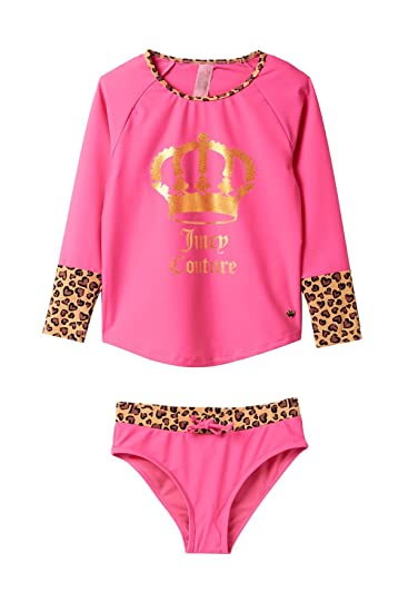 b802393528 Image Unavailable. Image not available for. Color  Juicy Couture Girls Rash  Guard ...