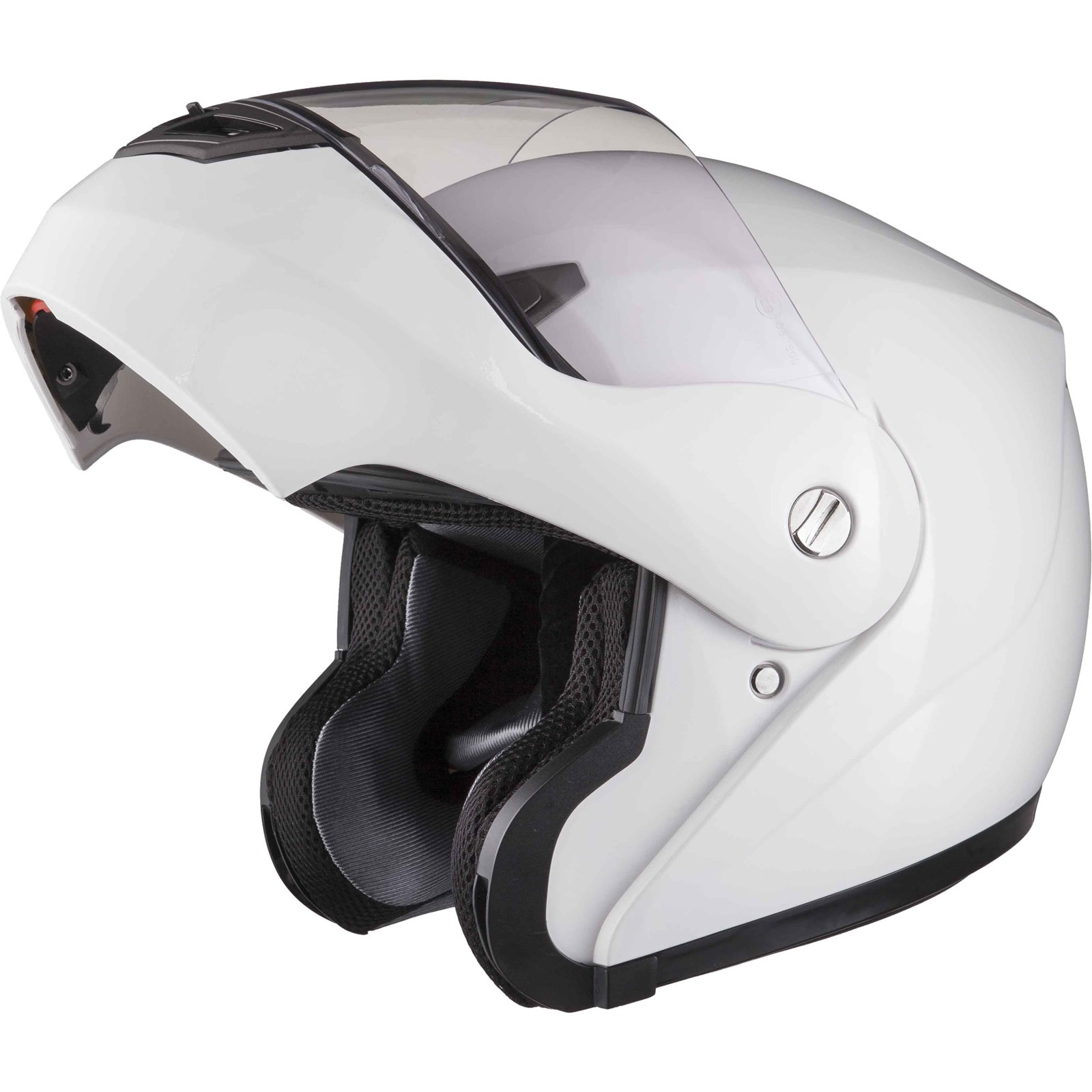 Shox Bullet Flip Front Motorcycle Helmet L Gloss White product image