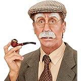 Sourcils Moustache Set Grand-Père Bad Taste Party Grises Déguisement Pépé Poiles Visage Costume Vieux Bonhomme