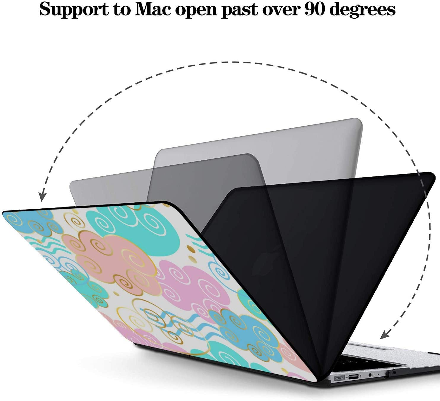 MacBook Pro Accessories Shining Colorful Romantic Art Gift Plastic Hard Shell Compatible Mac Air 11 Pro 13 15 MacBook Accessories 13 Inch Protection for MacBook 2016-2019 Version