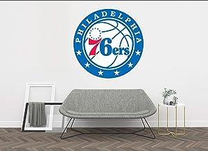 "Basketball Team - NBA Team Logo Wall Decal Vinyl Sticker for Home Interior Decoration Doors Laptop, Window, Mirror, Car (20""x20"")"