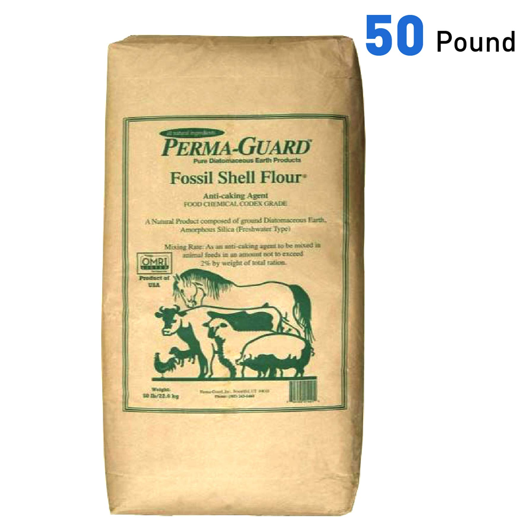 Perma Guard EGP-DE-50C erma Guard Diatomaceous Earth-DE Food Grade, 50 lb, White by Perma-Guard
