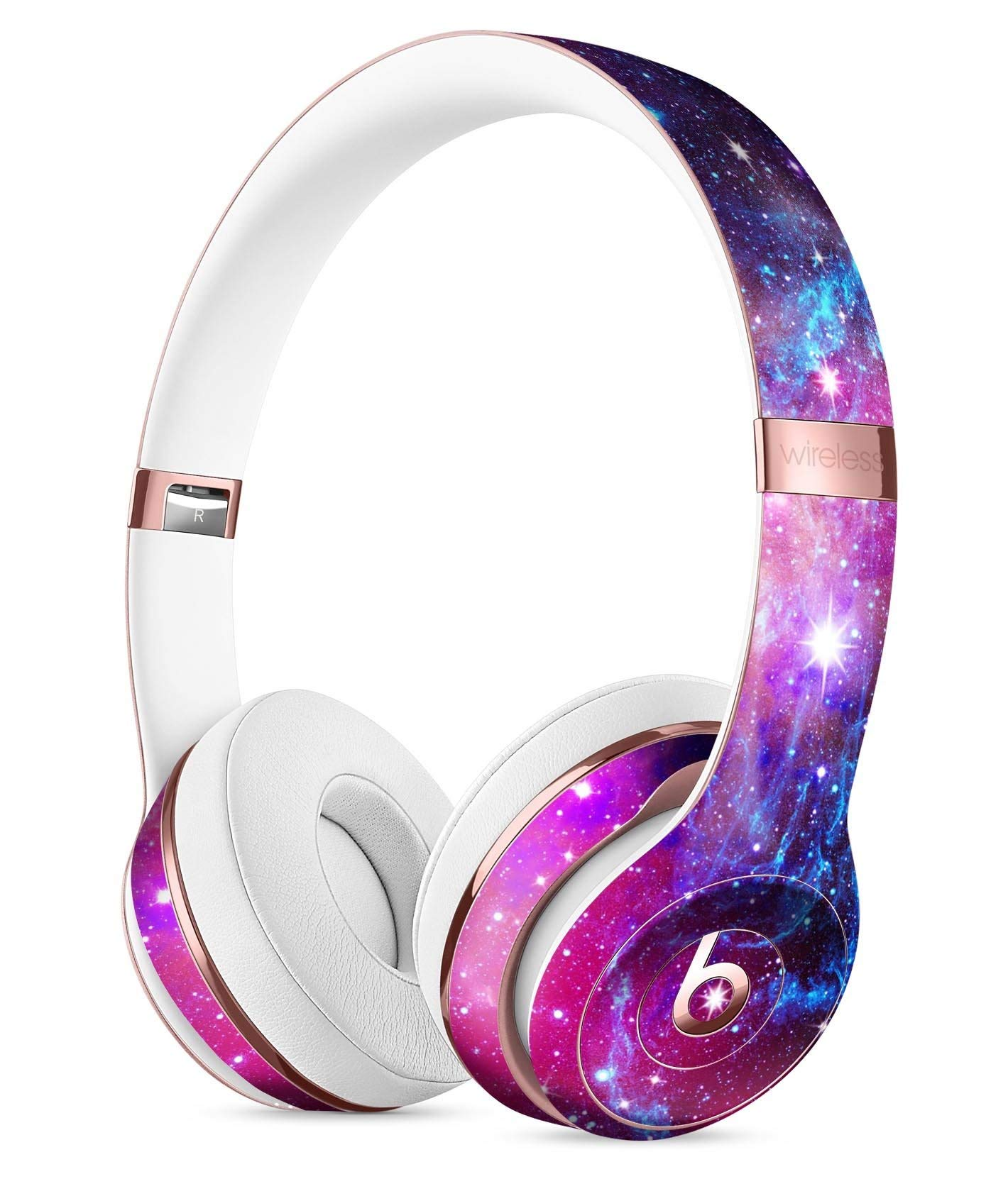 Bright Trippy Space DesignSkinz Full-Body Skin Kit for The Beats by DRE Solo 3 Wireless Headphones/Ultra-Thin/Matte Finished/Protective Skin Wrap
