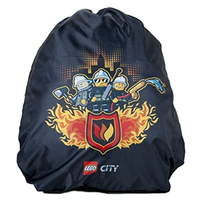 LEGO City Fire to the Rescue Cinch Sack, Black, One Size