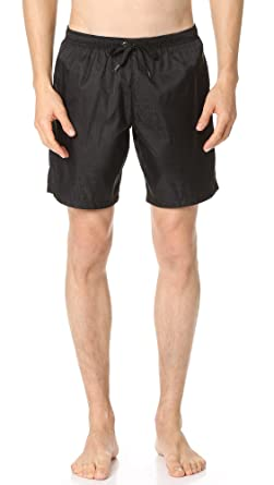 8f295e734811fb MOSCHINO Men's Tonal Logo Trunks, Black, Small