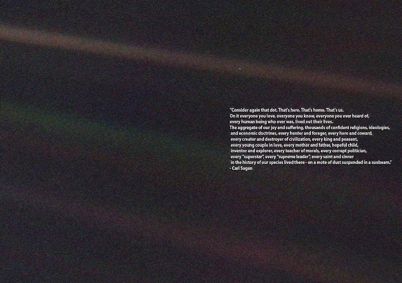 Amazoncom Carl Sagan Pale Blue Dot Quote Print Poster