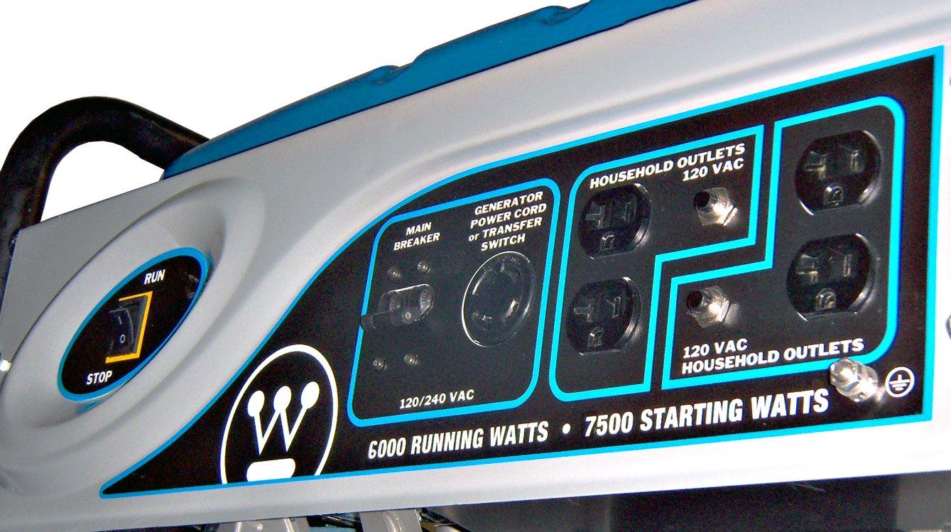 Westinghouse Wh6000 7 500 Watt 357cc Gas Powered Prime Genset Pr7500cl 6000watt Portable Generator Discontinued By Manufacturer Garden Outdoor