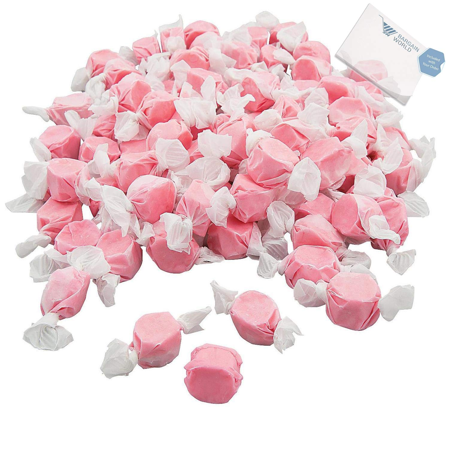 Bargain World Pink Salt Water Taffy (With Sticky Notes)