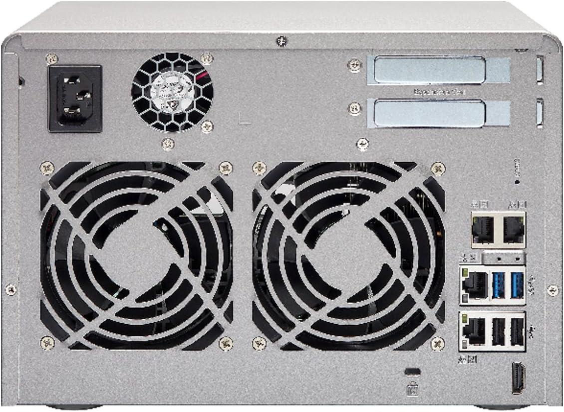 AMD R series Quad-core 2.1GHz 10G-ready 8GB RAM QNAP TVS-673e-8G-US 6-bay NAS//iSCSI IP-SAN