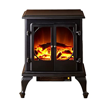 Townsend Portable Electric Fireplace Stove By E Flame USA (Matte Black)    This