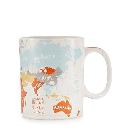 Debenhams ben de lisi home orange world map print mug from ben de debenhams ben de lisi home orange world map print mug from gumiabroncs Choice Image