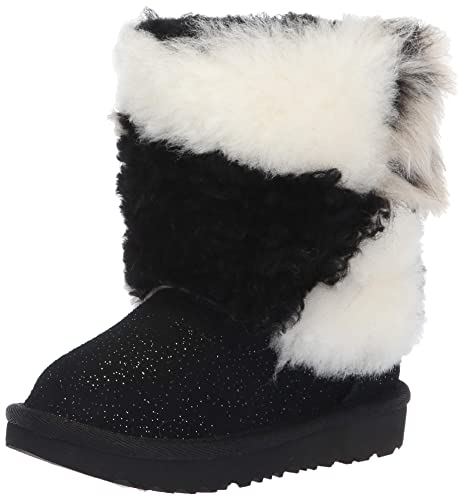 5b64b2784aa UGG Baby-Girls T Classic Short Patchwork Fluff Fashion Boot: Amazon ...
