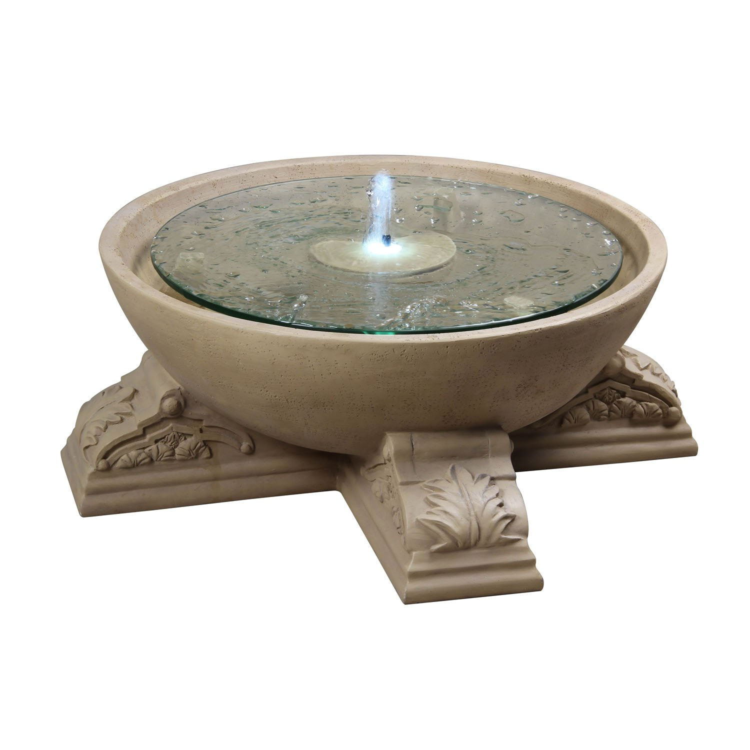 Kenroy Home Palazzo Outdoor Floor Fountain, Sandstone