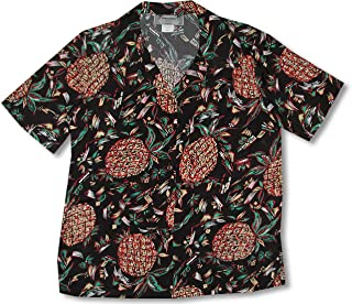 product image for Paradise Found Women's Pineapples Original Kamehameha Aloha Shirt, Black, M