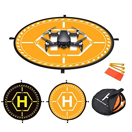 Fstop Labs 36 inch RC Drone Waterproof Collapsible Foldable Landing Pad for  DJI Tello Mavic 2 Zoom Air Pro Platinum Phantom 3 4 Spark Accessories High