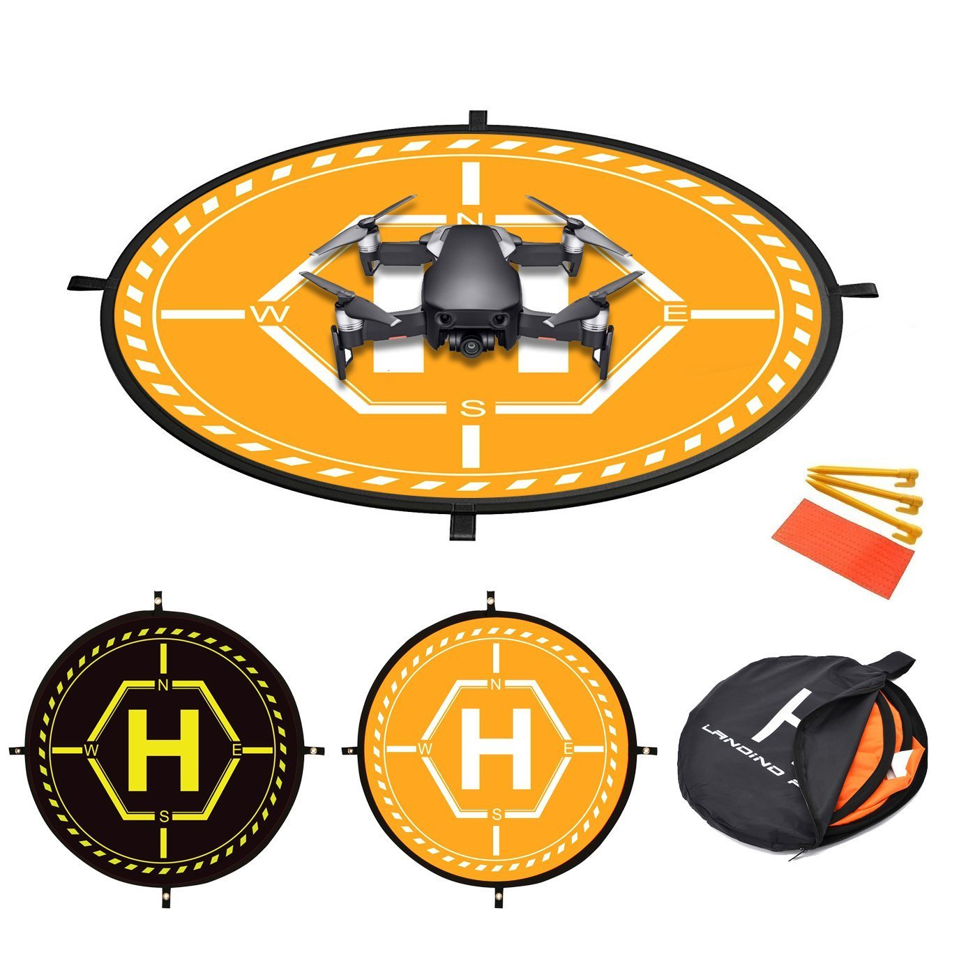 Fstop Labs 36 inch RC Drone Waterproof Collapsible Foldable Landing Pad for DJI Tello Mavic 2 Zoom Air Pro Platinum Phantom 3 4 Spark Accessories High Contrast