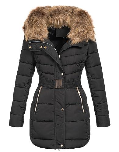 zarlena Mujer Chaqueta de invierno abrigo de invierno Edredón abrigo chaqueta de piel sintética