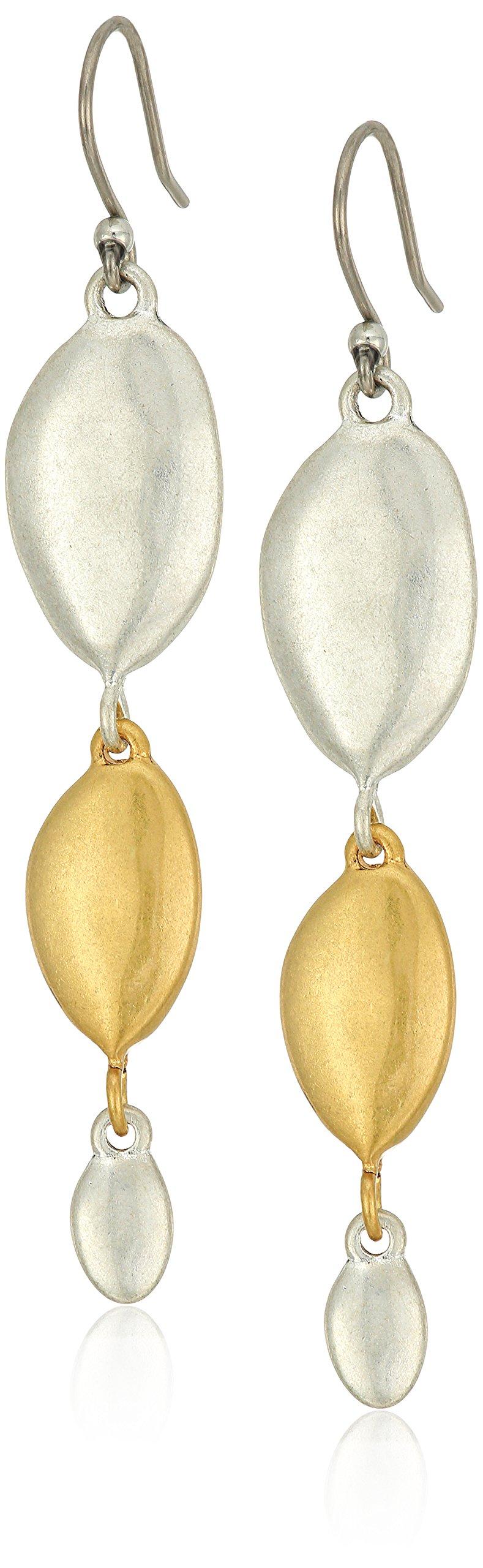 Lucky Brand Two-Tone Linear Earrings