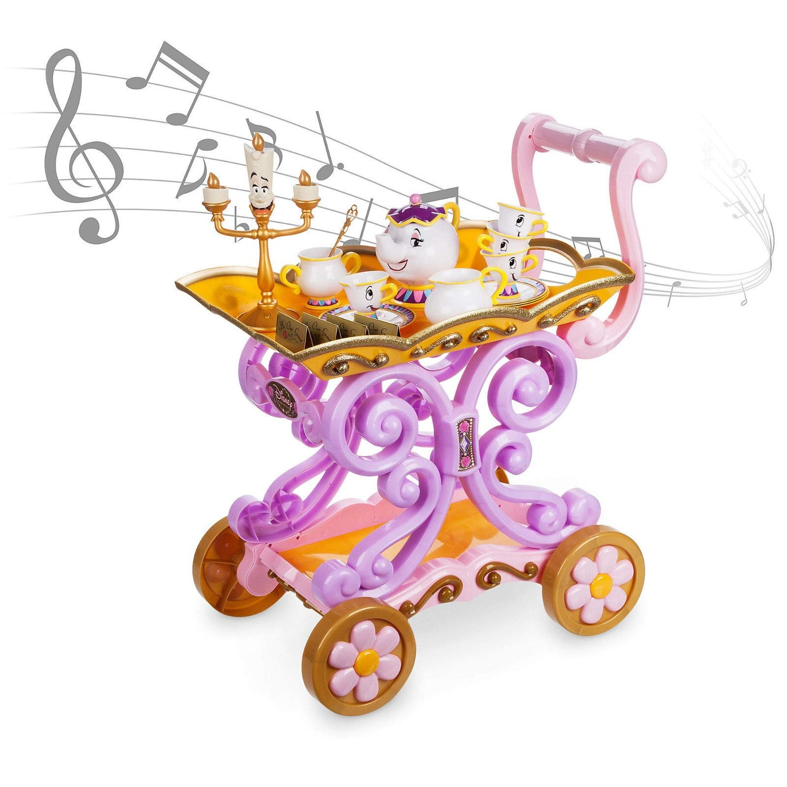 Disney Store Beauty and the Beast Be Our Guest Singing Tea Cart