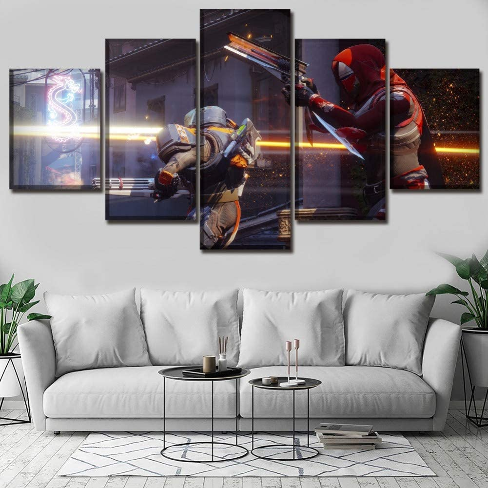 ADGUH Cuadro sobre Lienzo Juego Poster Canvas Art Printing Painting 5 Piezas Destiny 2 Poster Home Decor Wall Pictures Impresiones en Lienzo