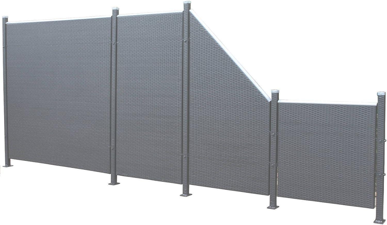 Amazon De Prime Tech Poly Rattan Sichtschutz Zaun Set 9 Teilig